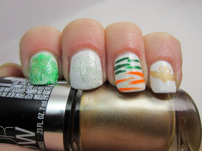 The Get Lucky Nail Art Challenge: Day 2. Ireland Inspired - <em ...