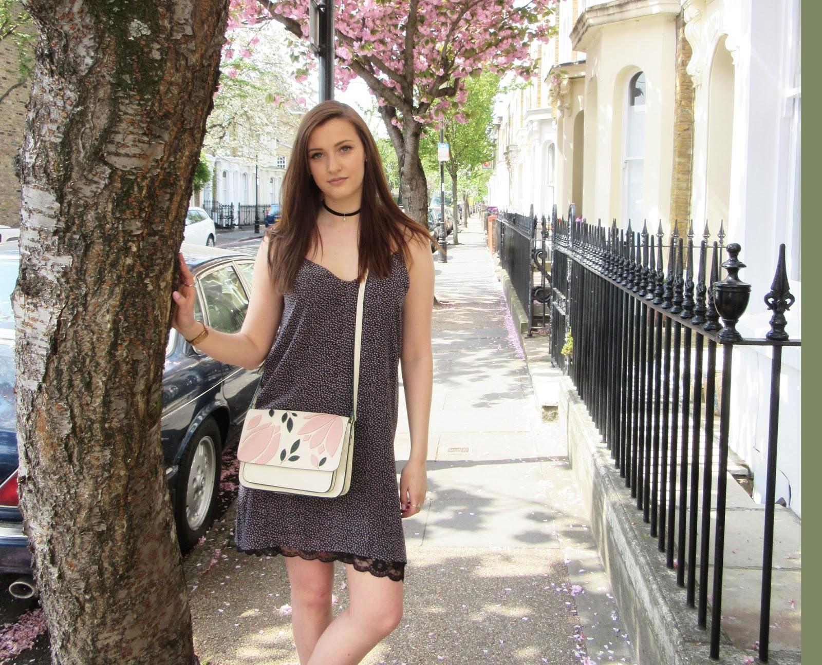 Pretty In Pink // Floral Slip Dress & Public Desire Nude Boots // Fashion OOTD WIWT STREET STYLE // London Blogger // Lauren Rose Bell