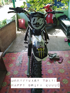 Modifikasi trail motor happy swift