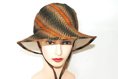 Topi Bucket Batik Hijau