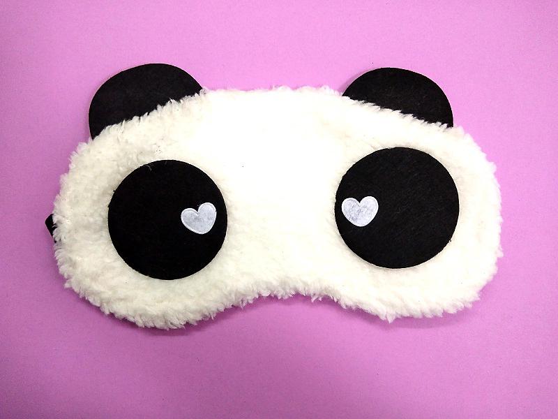 máscara para olhos panda