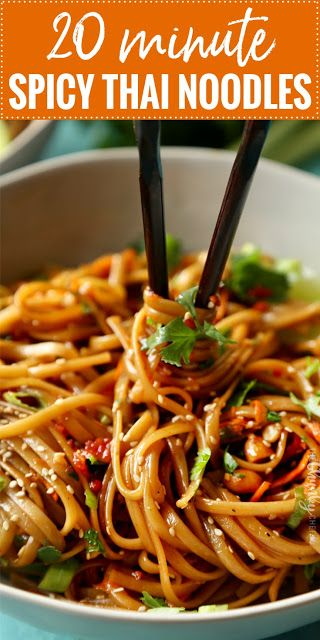 20 MINUTE SPICY THAI NOODLES #recipes #pastarecipes #easypastarecipes #food #foodporn #healthy #yummy #instafood #foodie #delicious #dinner #breakfast #dessert #lunch #vegan #cake #eatclean #homemade #diet #healthyfood #cleaneating #foodstagram