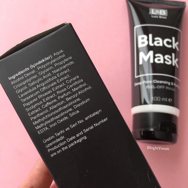 luis bien arındırıcı soyulabilir siyah maske içerik
