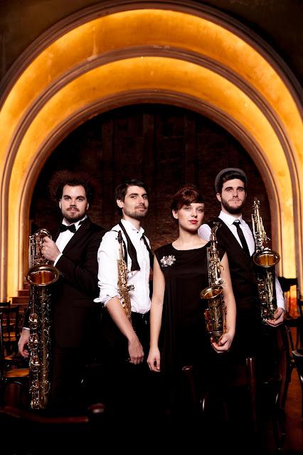 Arcis Saxophone Quartet (Jure Knez, Claus Hierluksch, Richarda Fuss, Edoardo Zotti) - Photo Harald Hoffmann