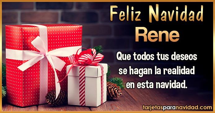 Feliz Navidad Rene