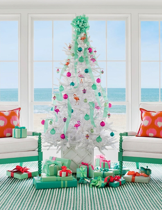 Pink Flamingo Ornaments Christmas Tree