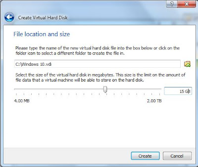 select Hard disk size or storage size