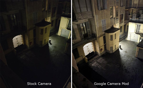 التصوير الليلي Google Camera