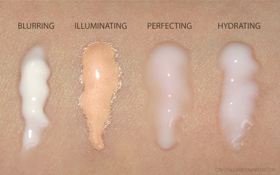Laura Mercier Pure Canvas Primer Swatches Blurring Hydrating Illuminating Perfecting