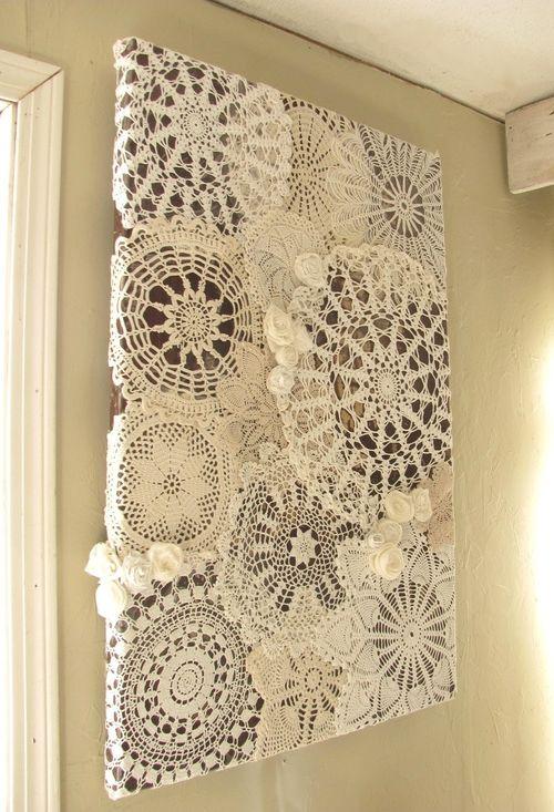 Toalhinhas de crochê emolduradas
