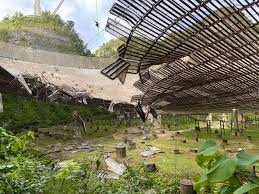 dome at Arecibo Observatory collapses