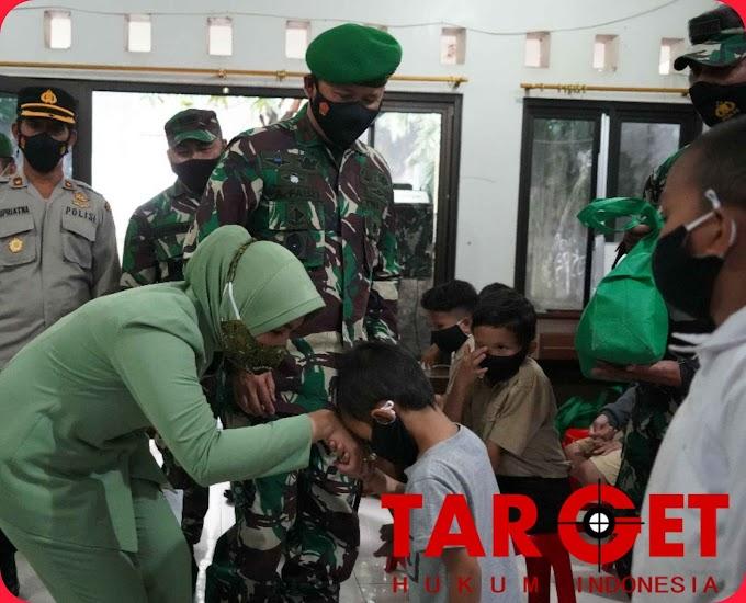 Dampak Pandemi covid-19, Danrem 061/SK Brigjen TNI Achmad Fauzi Prihatin Anak Yatim dan Dhuafa