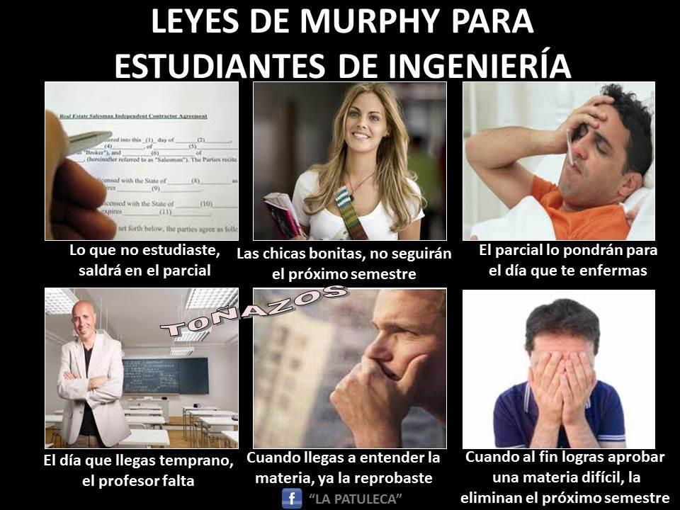 Leyes de Murphy para estudiantes