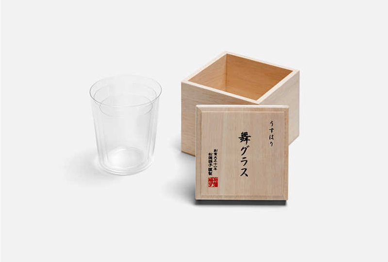 set 3 bicchieri bassi con scatola