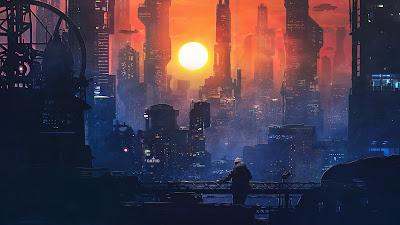 HD Wallpaper Sci-fi City Sunset
