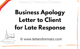 apology letter to customer for delay in response