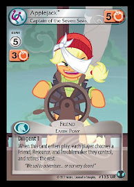 My Little Pony Applejack, Captain of the Seven Seas Defenders of Equestria CCG Card