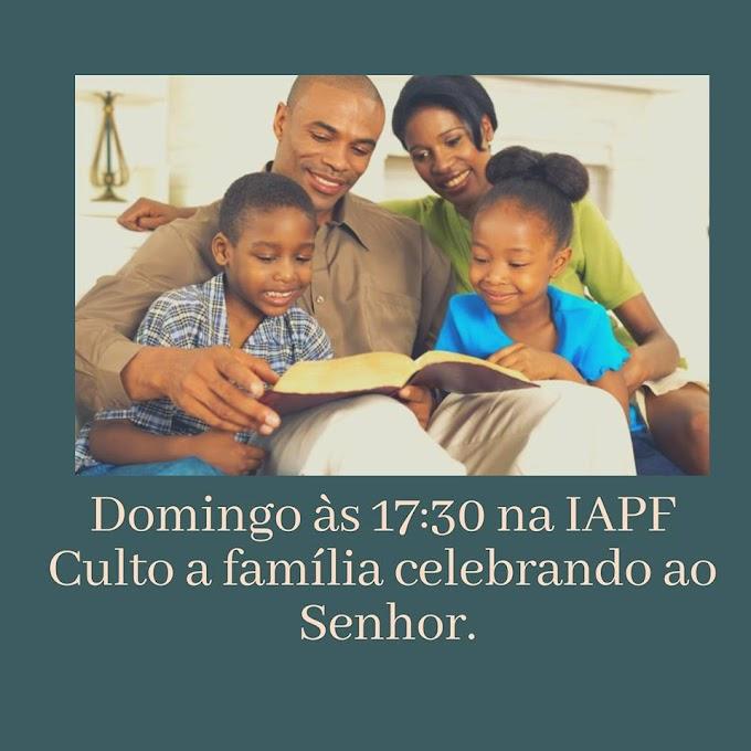 AGENDA DA IAPF CULTO TODAS AS TERÇAS E DOMINGOS