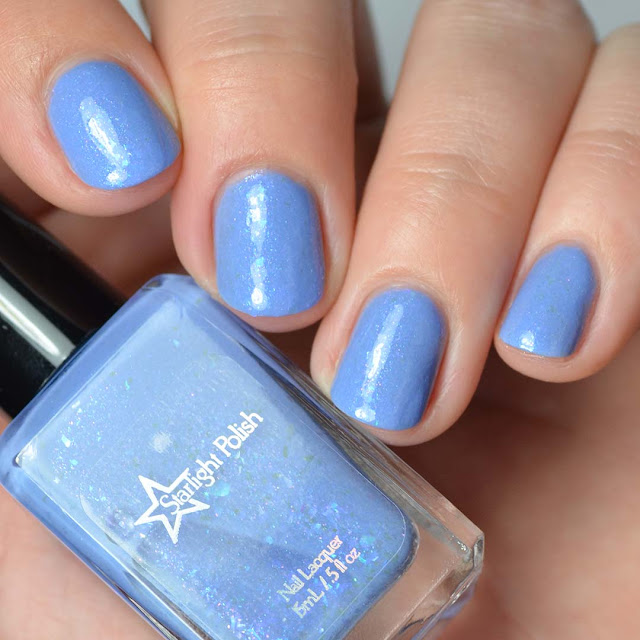 periwinkle flakie nail polish