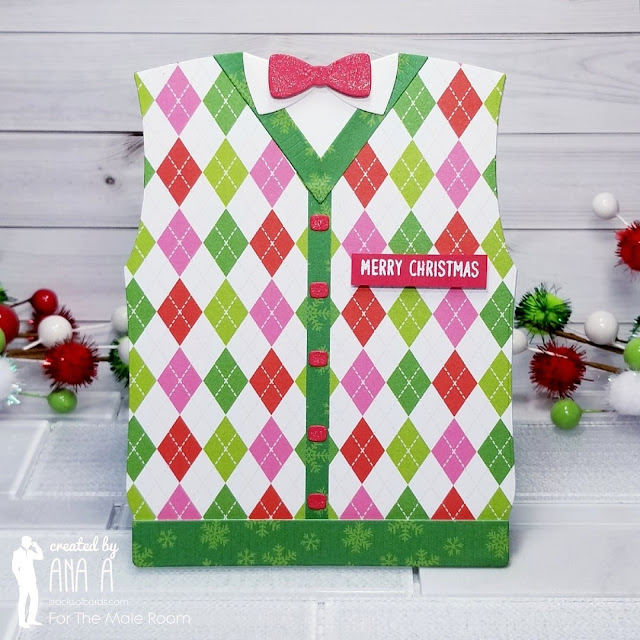 Sunny Studio Stamps: Sweater Vest Dies Customer Christmas Themed Card by Ana Anderson