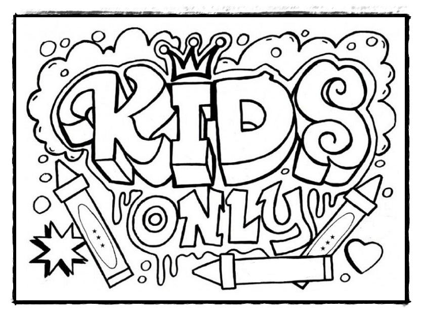 Die Besten und Kostenlos Graffiti Ausmalbilder zum ...