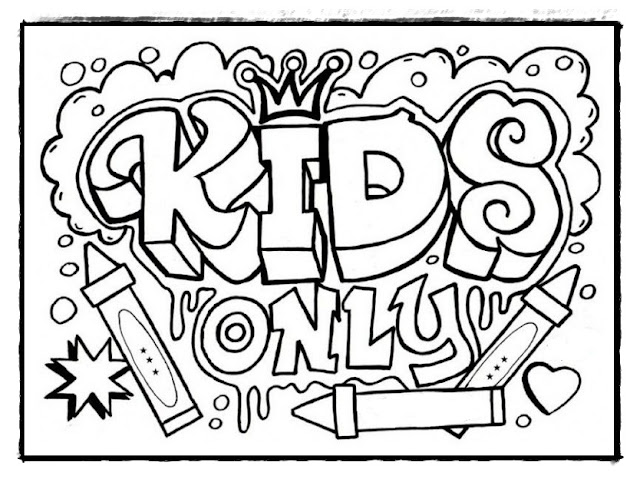 Graffiti ausmalbilder. Ausmalbilder kostenlos ausdrucken graffiti.