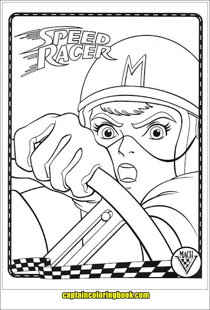 Speed Racer Coloring Pages | Speed racer | 640x433