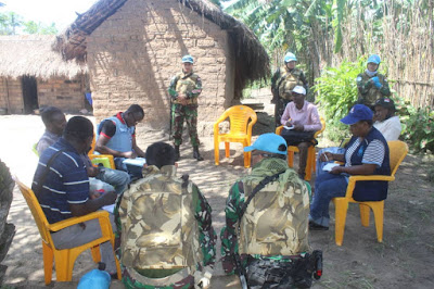 Satgas TNI Konga XXXIX-B RDB Berikan Trauma Healing Bagi Anak-Anak Korban Bentrokan Bersenjata di Kongo