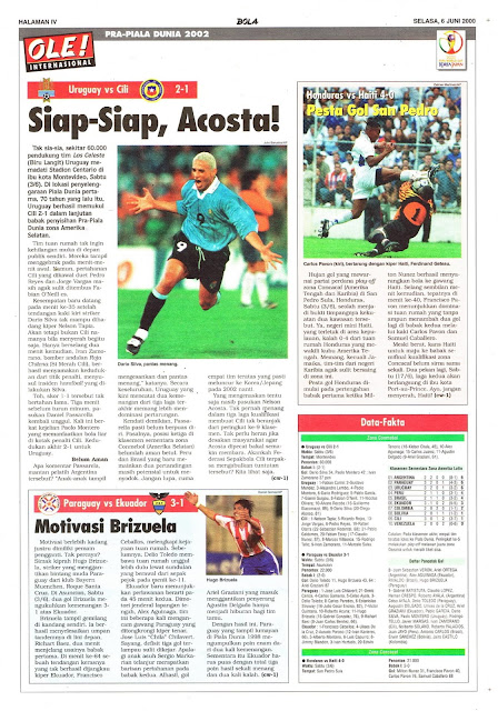 WORLD CUP 2002 QUALIFIER URUGUAY VS CILI 2-1