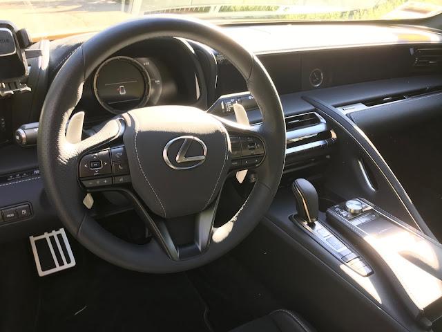 Interior view of 2020 Lexus LC 500h