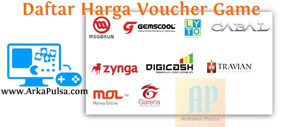 Daftar Harga Voucher Game Online Server Arkana Pulsa CV Sinar Surya Suryandaru Blora
