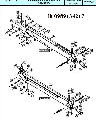 Đốt cần của cẩu Dong Yang 15 tấn SS3504-SS3506-SS3506M