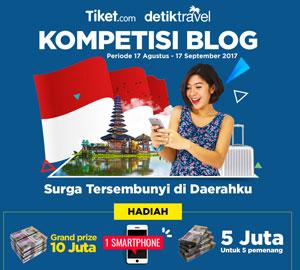 Desain Banner Lomba Blog DetikTravel. Gambar Internet