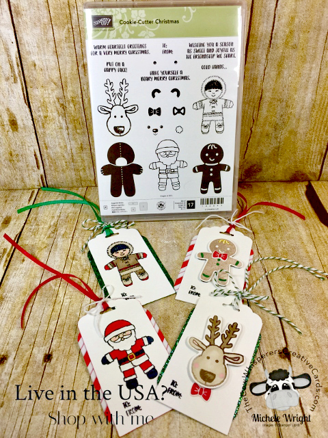 Tag, Cookie Cutter Stamp Set, Stampin Blends, Christmas