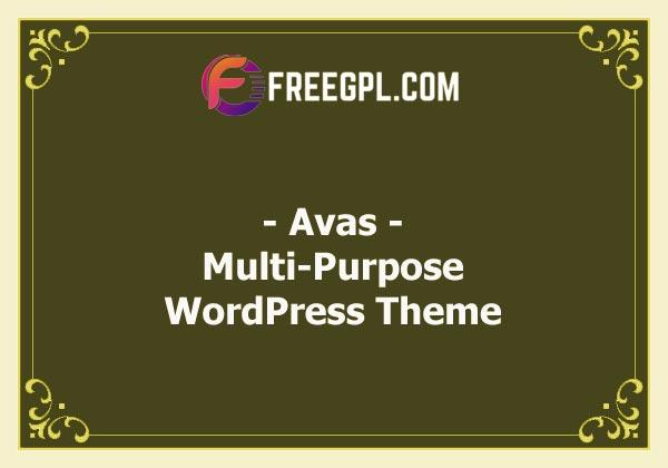 Avas | Multi-Purpose WordPress Theme Nulled Download Free
