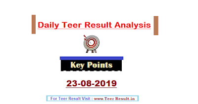 Teer Results of 23rd August 2019 are declared and Analysis