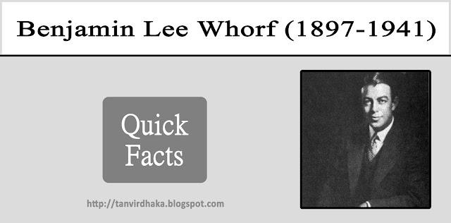 Benjamin Lee Whorf Quick Facts