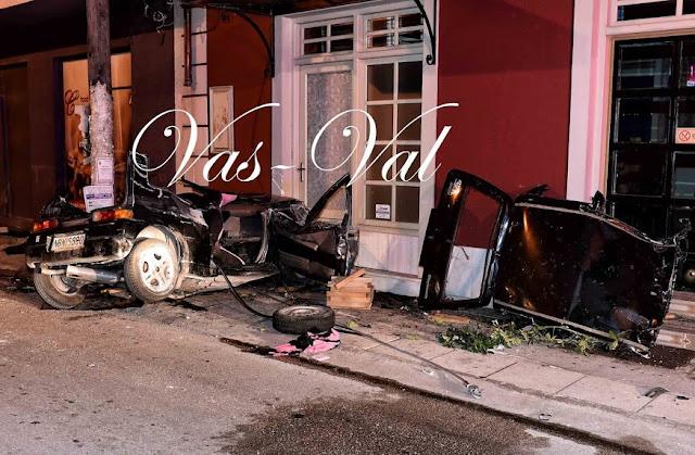 Τραγικό τροχαίο δυστύχημα στην Κορινθία - Νεκρή 23χρονη και σοβαρά τραυματισμένη μια 24χρονη  (βίντεο)