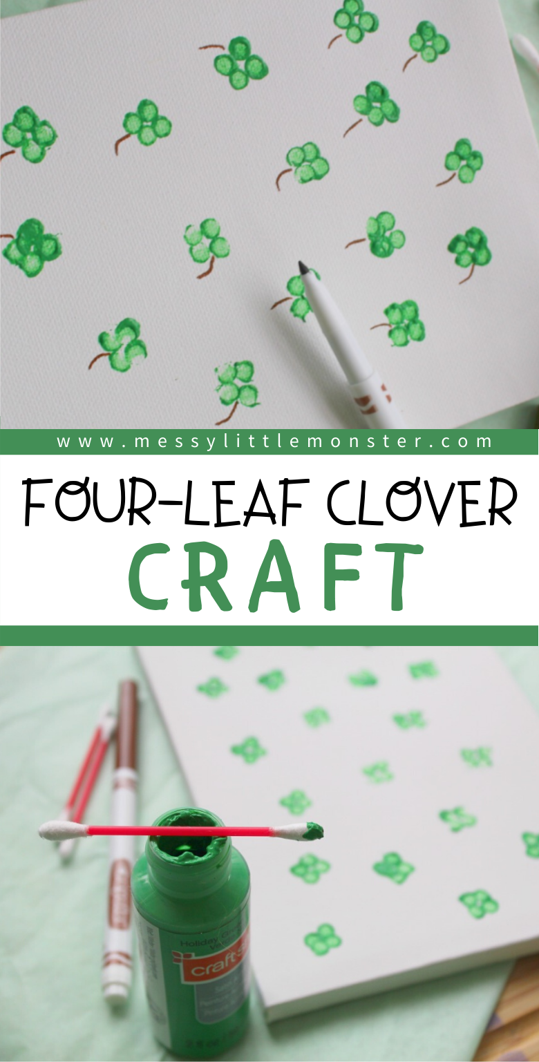Four leaf clover or shamrock craft for kids