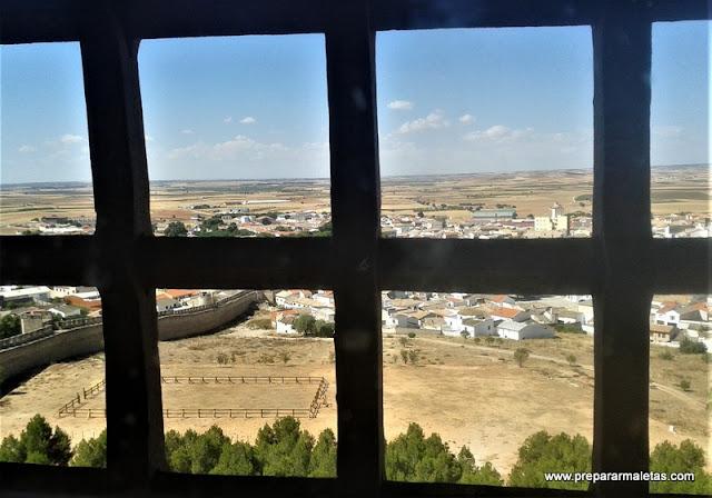 vistas desde el interior del Castillo de Belmonte