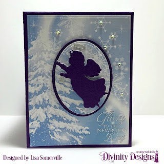 Stamp Set: Good Tidings, Custom Dies: Book Fold Card with Layers, Rectangles, Pierced Rectangles, Ovals, Pierced Ovals, Angel, Christmas Dove (snowflakes), Paper Collection: Christmas 2019