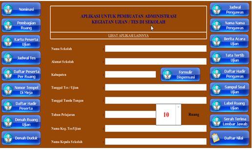 Aplikasi Administrasi Ujian Sekolah Terbaru