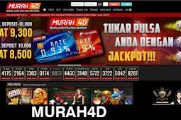 MURAH4D | Situs judi togel online & Agen slot online terpercaya deposit pulsa