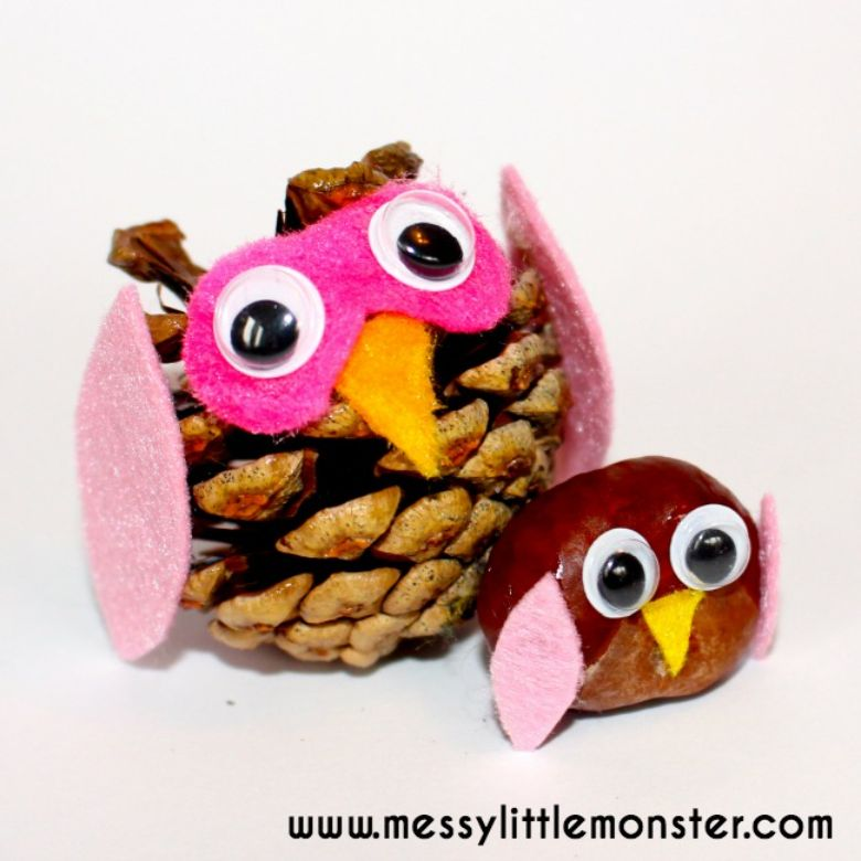 nature owl craft - summer camp craft for kids