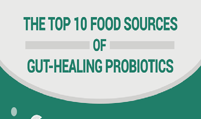 The Top 10 Food Sources Of Gut-Healing Probiotics #infographic