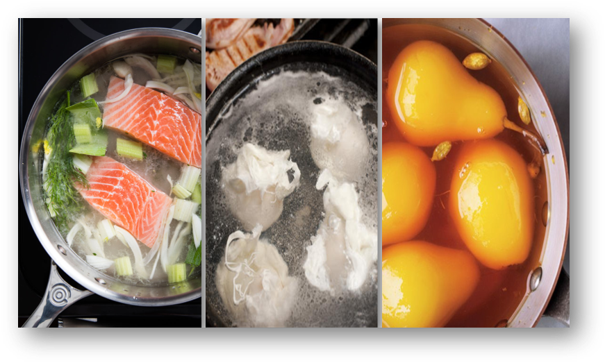 Chef Q 2 Types Of Poaching Method As Moist Heat Cooking In Culinary Knowledge