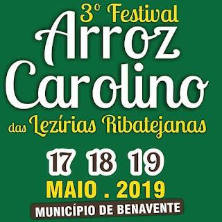 Cartaz Festival do Arroz Carolino 2019