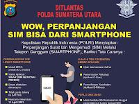 Dirlantas Poldasu Ajak Masyarakat Urus dan Perpanjangan SIM Dari Smartphone