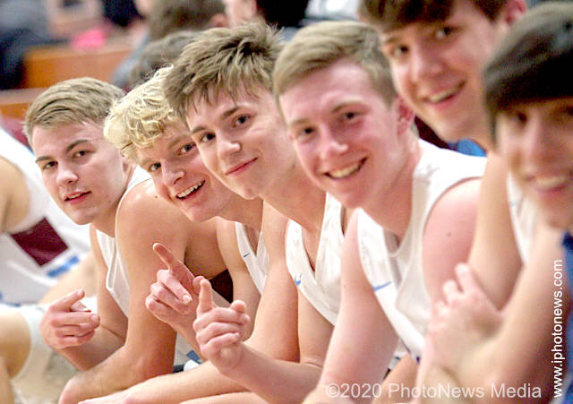 St. Joseph-Ogden basketball players