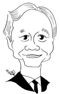 Ang Lee caricature by Ian Davy Brown
